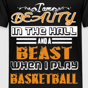 Beauty And The Beast Playing Basketball Shirt - Toddler Premium T-Shirt