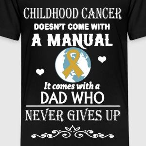 Childhood Cancer Dad Shirt - Toddler Premium T-Shirt