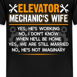 Elevator Mechanic Wife Shirt - Toddler Premium T-Shirt