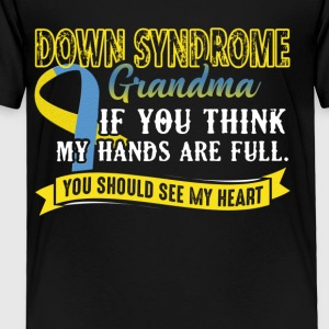 Down Syndrome Grandma Full Heart Shirt - Toddler Premium T-Shirt
