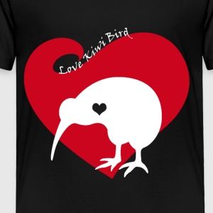 Love Kiwi Bird Tee Shirt - Toddler Premium T-Shirt