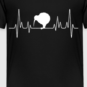 Kiwi Bird Heartbeat Shirts - Toddler Premium T-Shirt