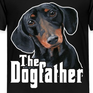 The Dogfather Dachshund Tee Shirts - Toddler Premium T-Shirt