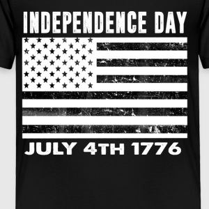 Happy Independence Day 4th of July Flag T-Shirt - Toddler Premium T-Shirt