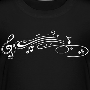 Clef with music notes, modern Tribal Tattoo Style. - Toddler Premium T-Shirt