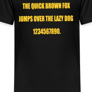 THE LAZY DOG - Toddler Premium T-Shirt