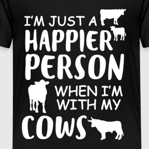 Happy With My Cows Tee Shirt - Toddler Premium T-Shirt