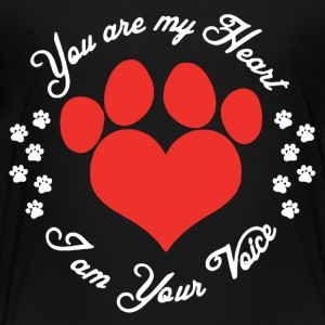 You Are My Heart Animal Lovers Shirt - Toddler Premium T-Shirt