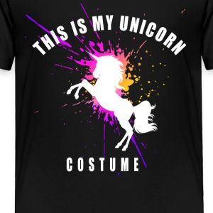 unicorn costume pink romantic girl splash humor lo - Toddler Premium T-Shirt