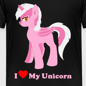 i love my pink fantasy unicorn - Toddler Premium T-Shirt