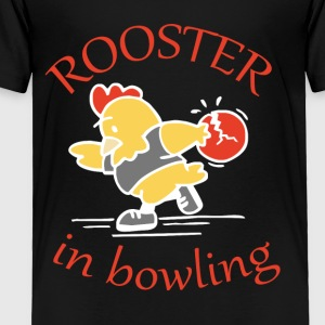 Rooster in Bowling - Toddler Premium T-Shirt