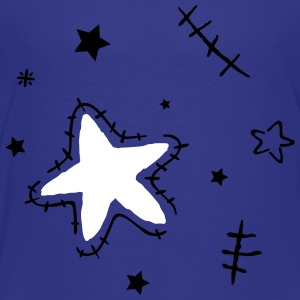 Stars with cracks, grunge style - Toddler Premium T-Shirt