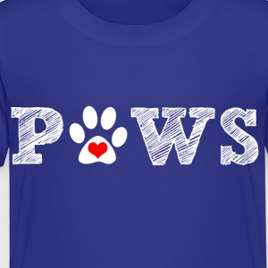 Paw animal graphic for dog and animal lovers. - Toddler Premium T-Shirt