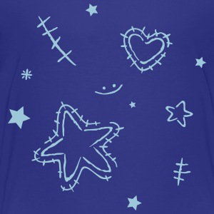 Heart with cracks and stars - Toddler Premium T-Shirt
