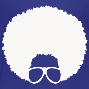 Afro with Glasses #4 (in white) - Toddler Premium T-Shirt