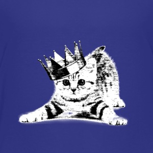 Cat wearing a crown - Toddler Premium T-Shirt