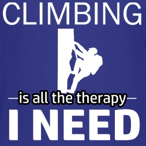 Climbing is my therapy - Toddler Premium T-Shirt