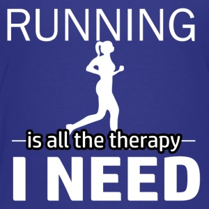 Running is my therapy - Toddler Premium T-Shirt