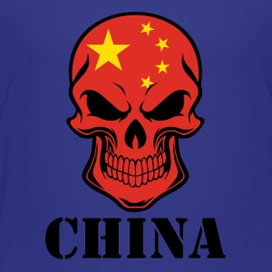 Chinese Flag Skull China - Toddler Premium T-Shirt