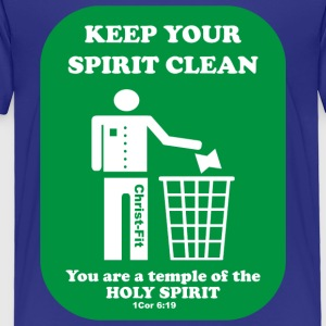 keep your spirit clean solid green - Toddler Premium T-Shirt