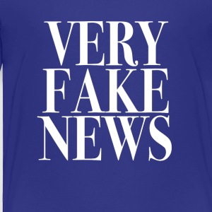 Very Fake News Trump Tee Shirt - Toddler Premium T-Shirt