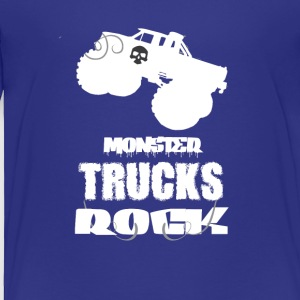 Monster Trucks Rock Cool Tee Shirt - Toddler Premium T-Shirt