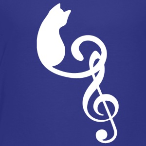 Silhouette Cat Treble Clef Note Music Lover - Toddler Premium T-Shirt