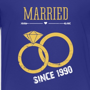 Wedding Anniversary married since 1990 - Toddler Premium T-Shirt