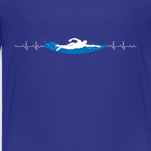 Swimming heartbeat - Toddler Premium T-Shirt