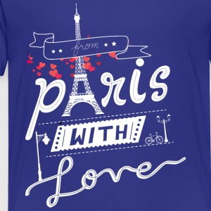 from paris with love white - Toddler Premium T-Shirt