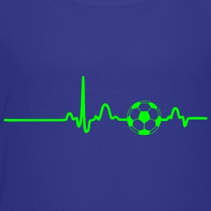 EKG HEARTBEAT SOCCER green - Toddler Premium T-Shirt