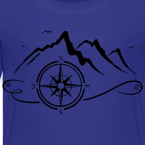 Mountains with compass - Toddler Premium T-Shirt
