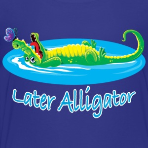Cute later alligator and butterfly design for kids - Toddler Premium T-Shirt