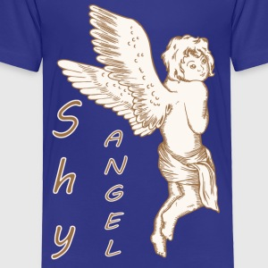 Shy Angel with Wings - Toddler Premium T-Shirt