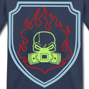 Head with Pistons in Fire - Toddler Premium T-Shirt