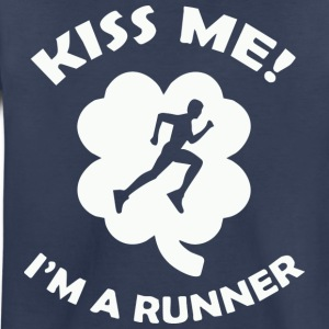 Kiss me - I-m a runner - Toddler Premium T-Shirt