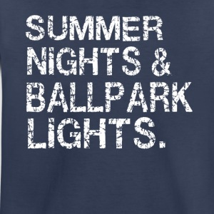 Summer nights and ballpark lights - Toddler Premium T-Shirt