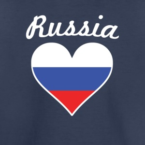 Russia Flag Heart - Toddler Premium T-Shirt