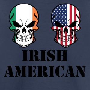 Irish American Flag Skulls - Toddler Premium T-Shirt