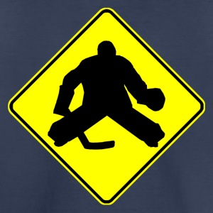 Hockey Goalie Crossing Sign - Toddler Premium T-Shirt