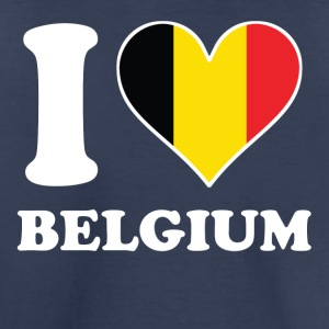 I Love Belgium Belgian Flag Heart - Toddler Premium T-Shirt