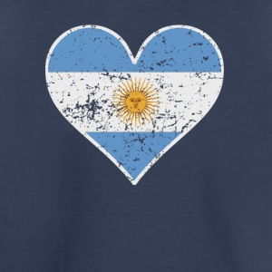 Distressed Argentinian Flag Heart - Toddler Premium T-Shirt
