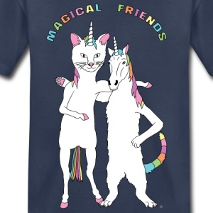 Cat Unicorn & Unicorn Cat Magical Friends Outline - Toddler Premium T-Shirt