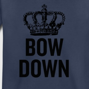Bow Down Crown Black - Toddler Premium T-Shirt