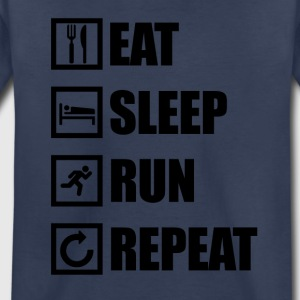 EAT SLEEP RUN REPEAT - Toddler Premium T-Shirt