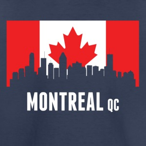 Canadian Flag Montreal Skyline - Toddler Premium T-Shirt
