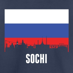 Russian Flag Sochi Skyline - Toddler Premium T-Shirt