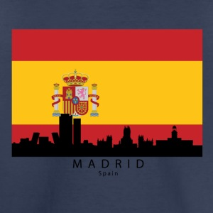 Madrid Spain Skyline Spanish Flag - Toddler Premium T-Shirt