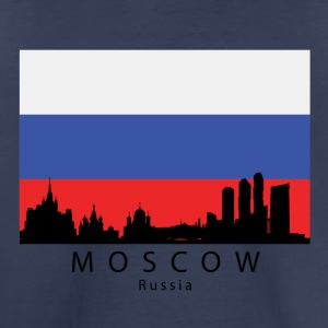 Moscow Russia Skyline Russian Flag - Toddler Premium T-Shirt