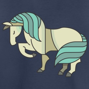 Blue Pony Graphic - Toddler Premium T-Shirt